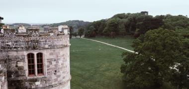 Zamek Lulworth Castle & Park, Widok z Dachu (2)
