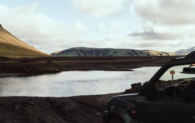 Landmannalaugar, Przekraczanie rzek (1)