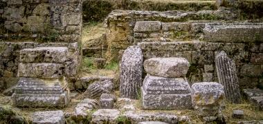 Nowa Sparta posąg Leonidasa Ruiny starożytnej Sparty Ruiny Starożytnego Miasta Droga Teatr Sparta (1)