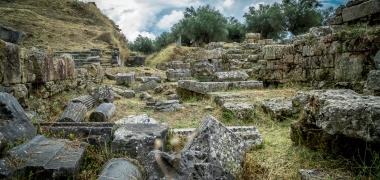 Nowa Sparta posąg Leonidasa Ruiny starożytnej Sparty Ruiny Starożytnego Miasta Droga Teatr Sparta (10)