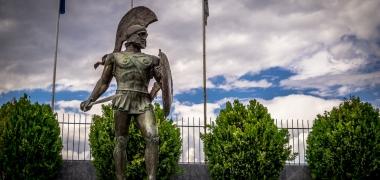 Nowa Sparta posąg Leonidasa Ruiny starożytnej Sparty Ruiny Starożytnego Miasta Droga (4)