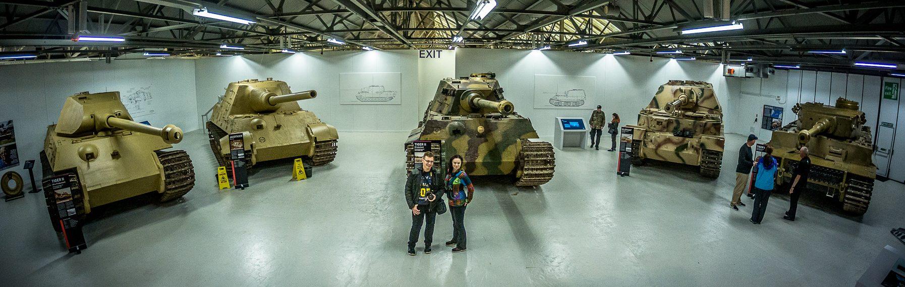 Ślady Wojny na Wyspach Brytyjskich – Muzeum Czołgów w Bovington.
